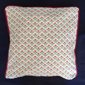 Kissenbezug aus Baumwolle mit Paspel und verstecktem Reißverschluss